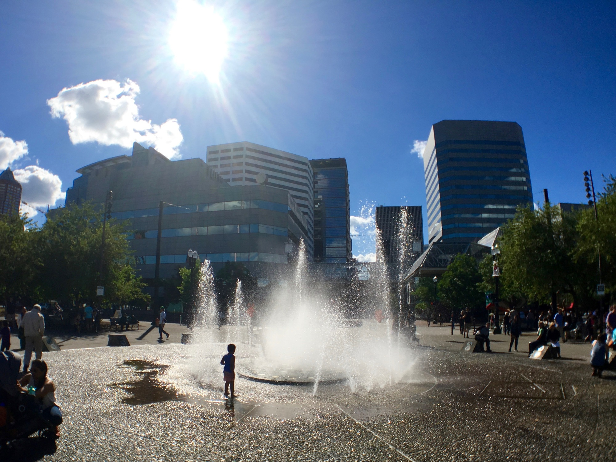SALMON STREET SPRINGS ,サーモン・ストリート・スプリングス,噴水、水遊び、OYAKO PORTLAND, ポートランド