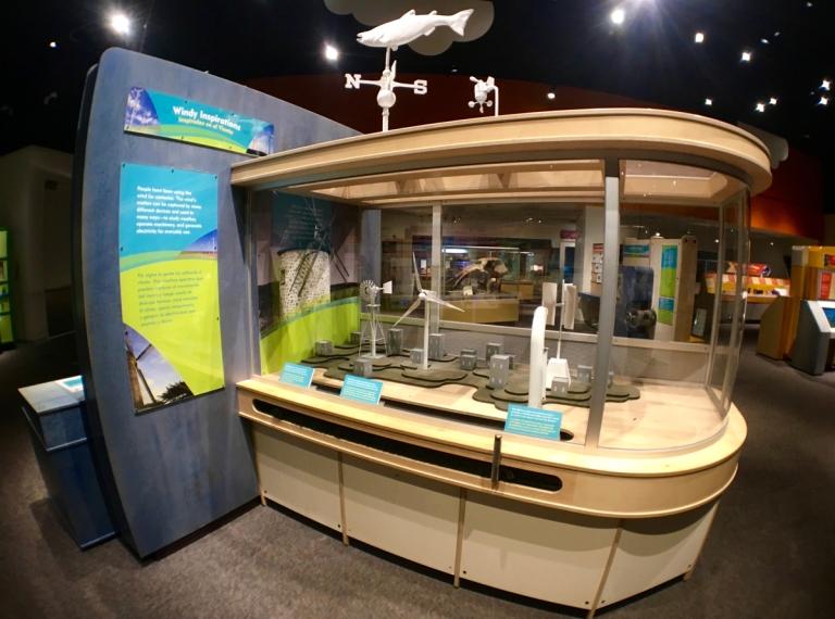 ポートランドにあるオレゴン科学産業博物館(OMSI)2階にある体験学習展示
