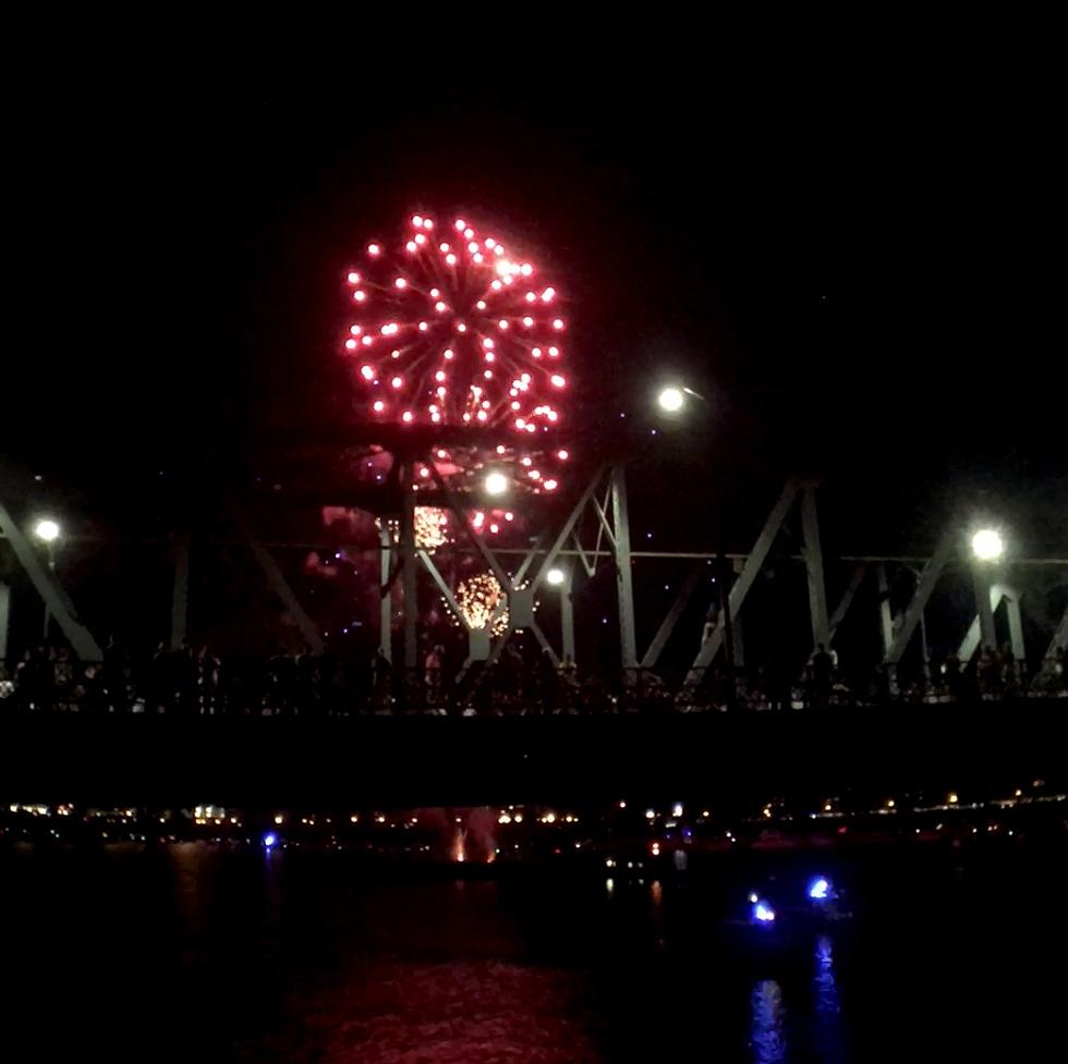 ポートランドの独立記念日の花火2017年の風景