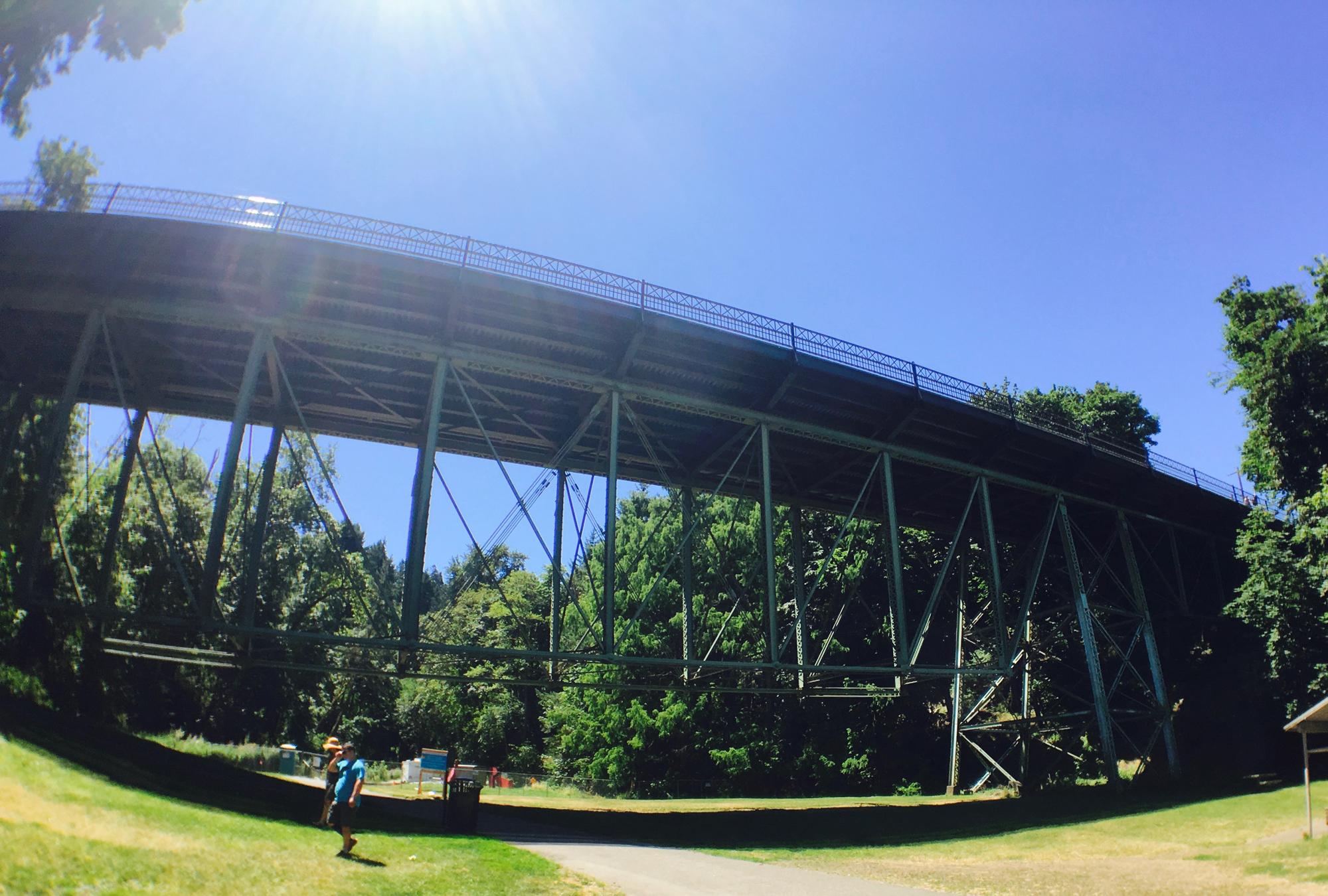 ローワー・マクレイ・パークにかかる橋