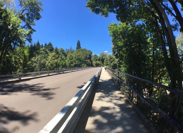 ローワー・マクレイ・パークにかかる橋に登った風景