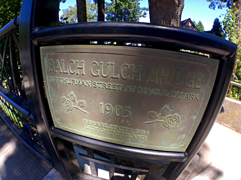 Balch Gulch Bridgeという橋のサイン