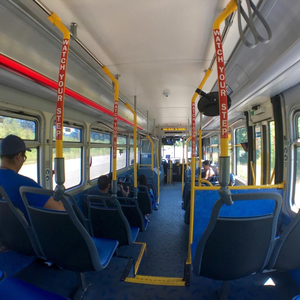 ポートランドの路線バス車内