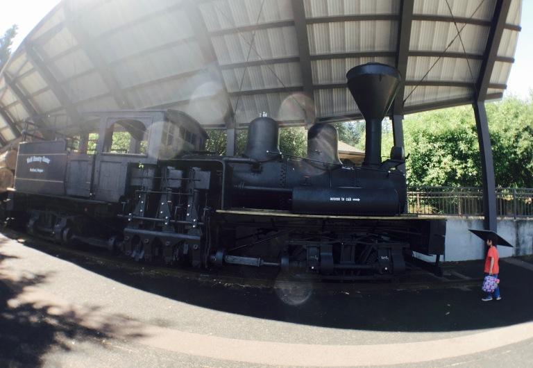 ポートランドのワシントンパークにある世界森林センター(World Forestry Center)にある蒸気機関車ペギー