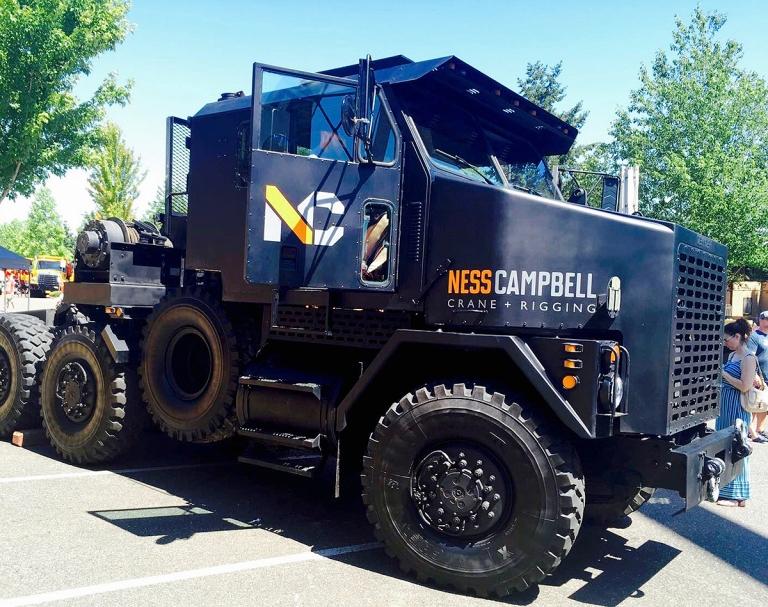 ポートランドの郊外ビーバートンで2017年に行われたBig Truck Day Conestogaでみた大きなトラック