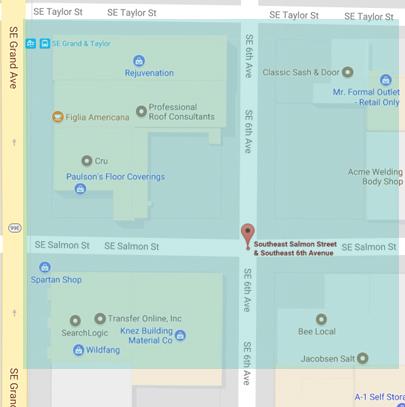 ポートランドで最終日曜日に開催されるショッピングイベントFLEA(フリー)周辺地図
